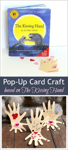 These would make perfect lunchbox notes for back to school! (Pop-Up Cards based on The Kissing Hand) ~ BuggyandBuddy.com