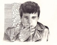 ian curtis. sick portrait