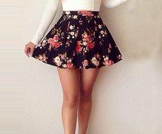 Flowered skirts via weheartit.com