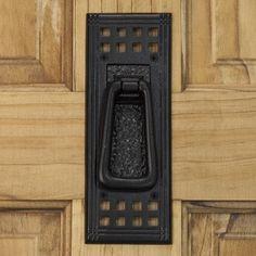 Mission Iron Door Knocker - Black Powder Coat