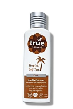 True Natural Tropical Self Tan, one of the 22 best green beauty products this year. 30 hair, makeup, and skin pros weigh in and explain why.