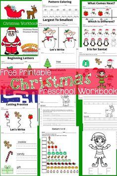 Preschool Puzzles, Preschool Workbooks, Free Preschool, Preschool Learning, Teaching, Baby Learning, Christmas Activities, Christmas Themes, Christmas Fun