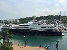 The Singapore Yacht Show #SingYachtShow watching MY Anastasia pull in to the marina at a smooth 75M!