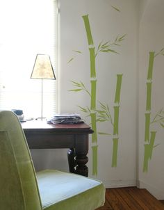 Create your own zen den with Bamboo wall decals by BLIK.