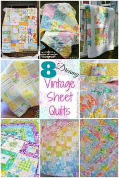 Vintage Sheet Quilts - Tips and Tricks for Making Your Own!