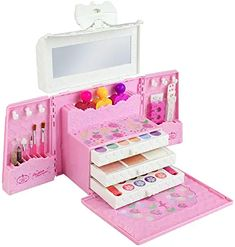 Hot offer Washable Pretend Play Kids Make Up Gifts Set Non Toxic Makeup Case Box Cosmetic Suit Travel Childre - Click the pics for details! Best Makeup Sets, Makeup Gift Sets, Makeup Box, Makeup Case, Makeup Brush, Little Girl Toys, Baby Girl Toys, Toys For Girls, Kids Toys