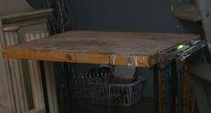 Before - Vintage Industrial Machine Table
