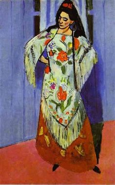 Matisse Manilla Shaw:  had a lifelong fascination with textiles 1911