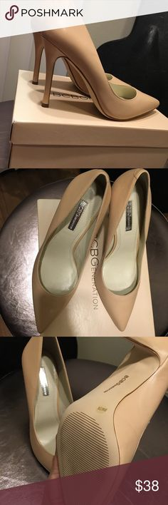 BCBGeneration pump ! Brand new pump from BCBGeneration ! Pointed toe. Leather upper.  Color - warm sand / nude. BCBGeneration Shoes Heels