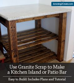 Can't believe this cost only $35 to make and it is so easy! Kitchen Island Plans.