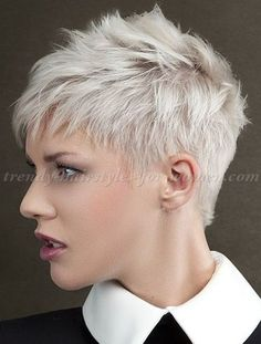 20 Short Spiky Hairstyles For Women - Stylendesigns - Page 15 - - Short spiky hairstyles for women have been known to have a glamorous and sassy look in quite a simple way. Women often prefer these short spiky hairstyles. Super Short Hair, Short Grey Hair, Short Blonde, Short Hair Cuts For Women, Blonde Pixie, Spiky Short Hair, Long Hair, Wavy Pixie, Short Spiky Hairstyles