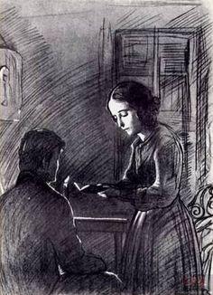 И. Глазунов. Соня читает Раскольникову Евангелие