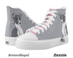 Italian Greyhounds Grey and Pink Shoes; ArtisanAbigail at Zazzle