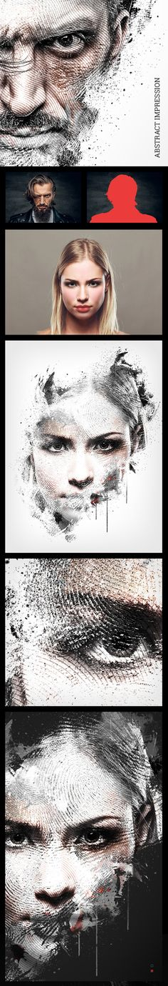 Abstract Impression Photoshop Action #digitalphotography #photoeffect #photoshopactions #tutorials