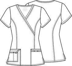 Spa Uniform, Scrubs Uniform, Scrubs Pattern, Housekeeping Uniform, Nurse Costume, Medical Uniforms, Medical Scrubs, Fashion Design Sketches, Drawing Clothes