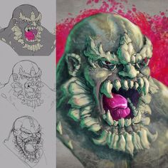 Took break for work in Progress for Doomsday ...and now black to vectoring. #doomsday #superman #process #sketch #photoshop #wacomcintiq #digitalart #digitalpainting #beastman #dccomics #draw #drawing #havefundesigning
