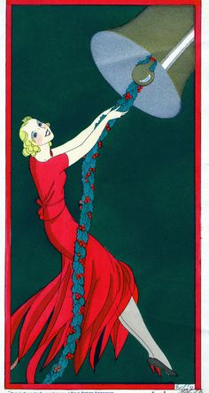 Ringing In The New Year!            Vintage advertising poster