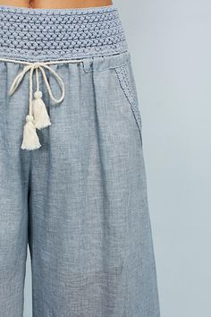 Slide View: 3: Justine Petite Wide-Legs Soft Pants, Wide Legs, Anthropologie, Shopping, Anthropology