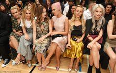 Fashionable friends: (L to R) Tessie Hartmann, Tallia Storm, Rosie Fortescue…