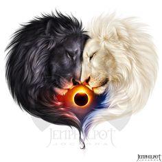 Commission - Lionheart by jocarra on DeviantArt Lion Images, Lion Pictures, Art Images, Lion Wallpaper, Animal Wallpaper, Big Cats Art, Cat Art, Black And White Art Drawing, Lion Photography