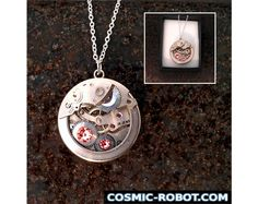 Steampunk Pendant Necklace steampunk jewelry. by CosmicRobot1