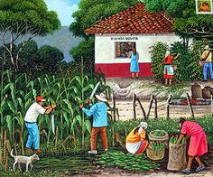 El Salvador ~ Edmundo Otoniel Mejia ~ Picking Corn and Coffee