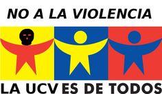 """""""UCV lugar de ideas, no de violencia"""", Marzo 2012.  En rechazo a la toma del edificio de FACES por parte del movimiento M28."""