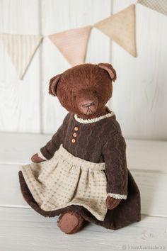 Мишка Тедди - купить или заказать в интернет-магазине на Ярмарке Мастеров | Маленькая мишка ростиком 19 см. Мишка сшита из…