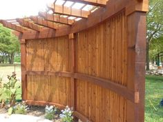 What a great way to create privacy as well as beauty to your garden space.  By Outdoor Signature in Argyle, TX