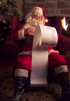 Old Saint Nick checking his list
