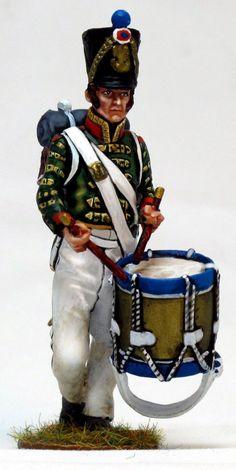NP 261 Tambor de fusileros de linea waterloo Lead Soldiers, Toy Soldiers, Napoleonic Wars, Miniture Things, Reggio, Troops, Captain Hat, Arms, Military Uniforms