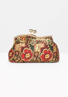 & Other Stories   Bloom Jacquard Clutch in Vintage Bloom