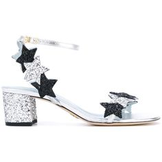 Chiara Ferragni star glitter sandals (€345) ❤ liked on Polyvore featuring shoes, sandals, black, ankle strap sandals, black ankle strap sandals, black sandals, ankle wrap sandals and black ankle strap shoes