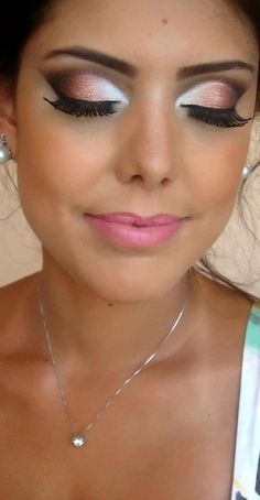 love her eye makeup. for day, skip the falsies and tone down the crease