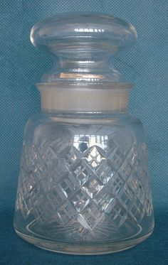 Late Victorian Lattice Cut Lead Crystal Tapering Pickle Jar Legacy Antiques and Collectibles Ltd Pickle Jars, Pickles, Victorian, Vase, Crystals, Antiques, Antiquities, Antique, Crystal
