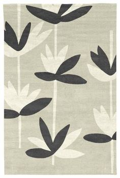 Judy Ross Hand-Knotted Custom Wool Palm Rug parchment/cream/black