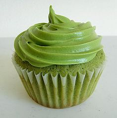 Green Tea Cupcake - My idea for cheap, easy recipe - Substitute strong green tea for water in white cake mix.  Substitute strong green tea for liquid in confectioner's sugar icing.  Add 1 t. almond extract to cake and use almond extract in icing in lieu of vanilla.  Add green food coloring.