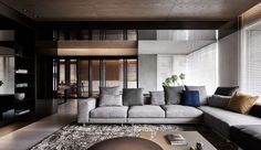 Black Acrylic, Glass and Stone Form This Dark and Sophisticated Apartment Interior https://link.crwd.fr/1bWe
