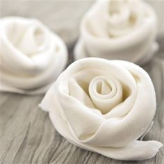 Napkin Rolled Into a Rose