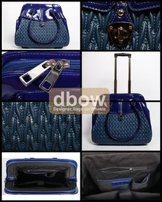 588585c66722 Violet Cobalt designer bag on wheels. These are fashionable and functional  laptop travel bags!