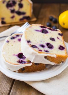 Gin-Glazed Blueberry Lemon Pound Cake