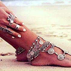 "Boho Gypsy antique silver Turkish anklet Boho Gypsy antique silver Turkish anklet. Adjustable up to 10""      Tags: gypsy, boho, indie, coachella, hippie, festival Jewelry"
