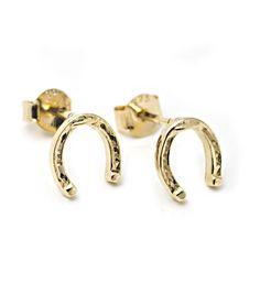 horseshoe earrings. $32