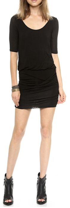 pretty dress with ruches skirt http://rstyle.me/n/ppa2wpdpe