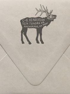 Elk Return Address Custom Stamp