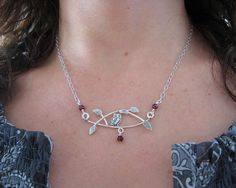 Handmade sterling silver owl necklace sitting by KryziaKreations, $140.00