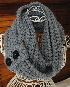 Trinity -- infinity scarf and neckwarmer with buttons  (Made to order) on Etsy, $27.00 Color: Emerald, Royal Blue, or White