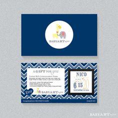 Gift Certificate Framed Birth Announcement Birth by BabyArtByJess