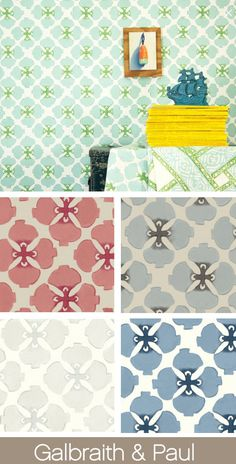 Living the Well Appointed Life with Melissa Hawks Interior Wallpaper, Home Wallpaper, Wallpaper Ideas, Wallpaper Stencil, Pattern Wallpaper, Fabric Rug, Drapery Fabric, Wall Stencil Patterns, Textured Walls