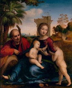 The Rest on the Flight into Egypt with St. John the Baptist by Fra Bartolomeo at the J. Paul Getty Museum